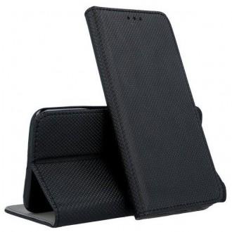 """Juodos spalvos atverčiamas dėklas """"Smart Magnet"""" telefonui HTC Desire 20 Pro"""