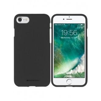"Juodas silikoninis dėklas Apple iPhone 7 / 8 telefonui ""Mercury Soft Feeling"""
