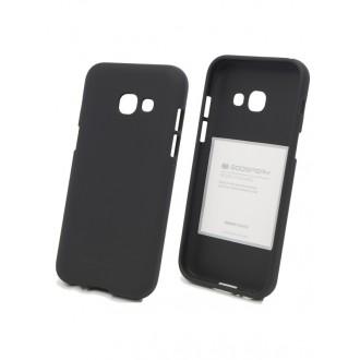 "Juodas silikoninis dėklas Samsung Galaxy A320 A3 2017  telefonui ""Mercury Soft Feeling"""