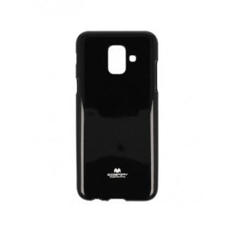"""Juodas silikoninis dėklas Samsung Galaxy A6 2018 telefonui """"Mercury Goospery Jelly Case"""""""