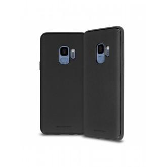 """Juodas silikoninis dėklas Samsung Galaxy J600 J6 2018 telefonui Mercury Goospery """"Style Lux"""""""