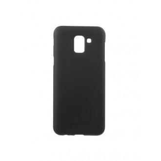 """Juodas silikoninis dėklas Samsung Galaxy J600 J6 2018  telefonui """"Mercury Soft Feeling"""""""