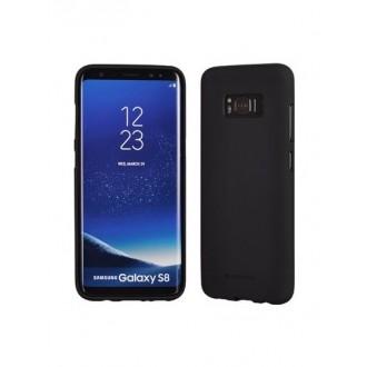"""Juodas silikoninis dėklas Samsung Galaxy S8 telefonui """"Soft Jelly Feeling"""""""