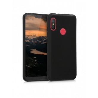 "Juodas silikoninis dėklas Xiaomi Mi A2 Lite / Redmi 6 Pro telefonui ""Silicone Cover"""