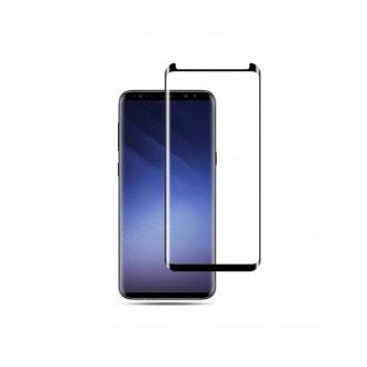 """LCD apsauginis stikliukas 3D pritaikytas dėklui"""" Samsung G965 S9 Plus lenktas juodas"""