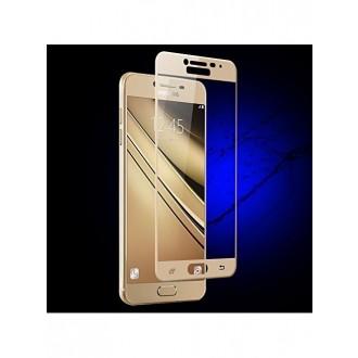 """Lenktas auksinis """"5D Full Glue"""" apsauginis grūdintas stiklas SAM Galaxy A3 2017"""