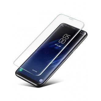 """Lenktas skaidrus grūdintas stiklas 3D Samsung Galaxy J330 J3 2017 telefonui """"Adp"""