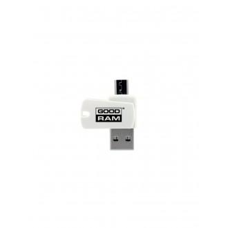 "MicroSD kortelių skaitytuvas GOODRAM OTG (USB+""microUSB"")"
