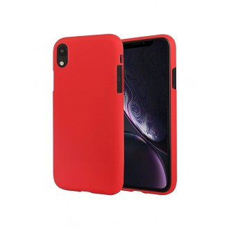 "Raudonas silikoninis dėklas Apple iPhone XR telefonui ""Mercury Soft Feeling"""