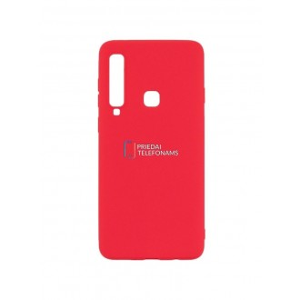 "Raudonas silikoninis dėklas Samsung Galaxy A920 A9 2018 telefonui ""Mercury Soft Feeling"""
