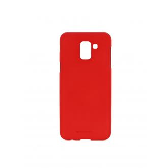 """Raudonas silikoninis dėklas Samsung Galaxy J600 J6 2018  telefonui """"Mercury Soft Feeling"""""""