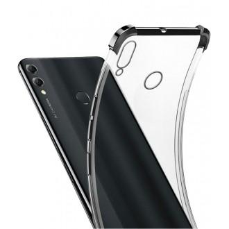 """Juodas/skaidrus silikoninis dėklas Xiaomi Redmi Note 9 telefonui """"Anti Shock"""""""