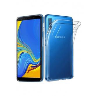Skaidrus plonas 0,5mm silikoninis dėklas Samsung Galaxy A750 A7 2018 telefonui