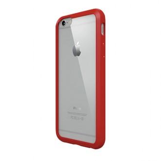 Skaidrus, raudonais kraštais, ''Tops Guard'' dėklas telefonui iPhone X