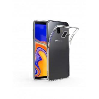 "Skaidrus silikoninis dėklas Samsung Galaxy J610 J6 Plus 2018 telefonui ""Clear 1.0mm"""