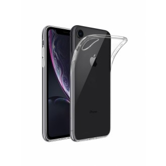 "Skaidrus silikoninis dėklas Apple iPhone XR telefonui ""Clear 1.0mm"""