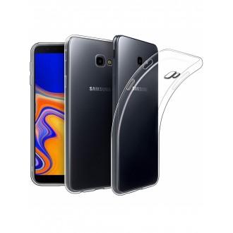 "Skaidrus silikoninis dėklas Samsung Galaxy J415 J4 Plus 2018 telefonui ""Clear 1.0mm"""