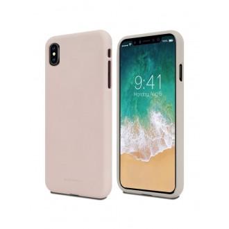 "Smėlio spalvos silikoninis dėklas Apple iPhone XR  telefonui ""Mercury Soft Feeling"""