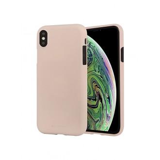 """Smėlio spalvos silikoninis dėklas Apple iPhone XS Max telefonui """"Mercury Soft Feeling"""""""
