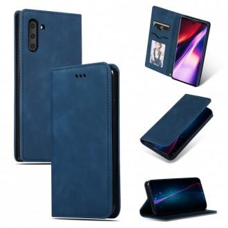 """Tamsiai mėlynas atverčiamas dėklas """"Business Style"""" telefonui Huawei P Smart 2021"""