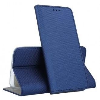 Tamsiai mėlynos spalvos atverčiamas dėklas ''Smart Magnet'' telefonui Samsung S21 Plus