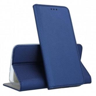 """Tamsiai mėlynos spalvos atverčiamas dėklas """"Smart Magnet"""" telefonui LG K50S"""