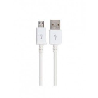 "USB kabelis ""microUSB"" 8mm baltas HQ, 0.85m"