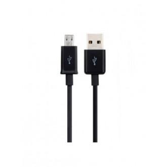 "USB kabelis ""microUSB"" 8mm juodas HQ, 0.85m"