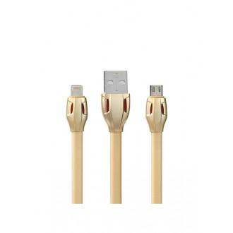 "USB kabelis Remax RC-035m ""Laser"" ""microUSB"" aukso spalvos"